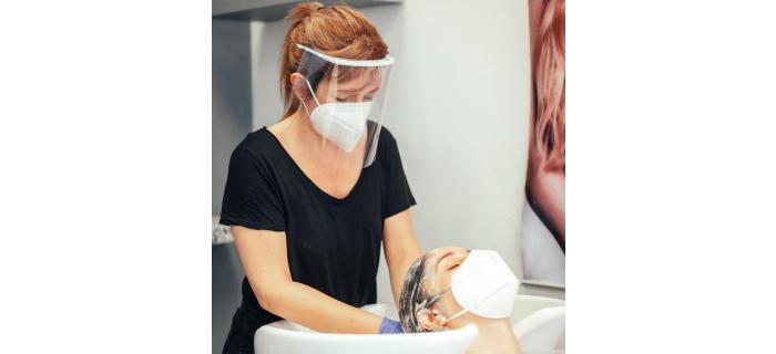 Hairdressers in England must wear face masks & visors and close contact treatments resume from 15th August