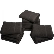Head Gear Chlorine Resistant Towels, Black (12)