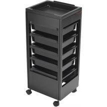 REM Studio Trolley with Flat Top Tray, Black