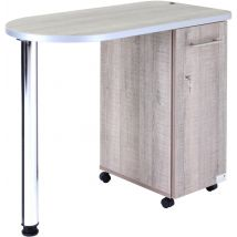 REM Stadium Nail Station, Rustic Oak
