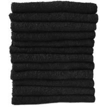 Bleach Resistant Towels, Black (12)