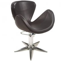 Gamma Rikka Styling Chair with Parrot Base, Black