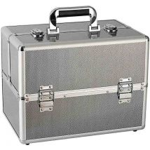 Hair & Beauty Case Silver Metallic, Medium