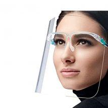 Face Visor with Glasses Frame