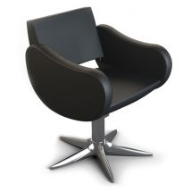 Gamma Store Fifties Chair with Parrot Base, Black