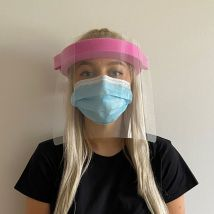 Face Visor with Pink Headband