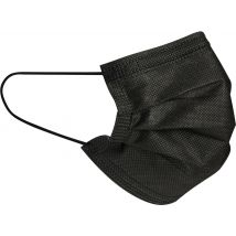 Face Masks, 3 Ply Non-woven Black (50)