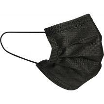 Face Masks, 3 Ply Non-woven Black (50)