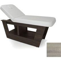 REM Aragon Massage Couch, Rustic Oak/White