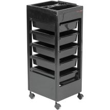 REM Studio Trolley with Accessory Top Tray, Black