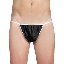 A+F Pro Disposable Men's Pants, Black (100)
