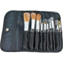 10 Piece Cosmetic Brush Set & Wallet