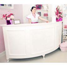Curved Reception Desk Standard, Large Quarter Circle