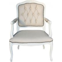 Button & Pleat Upholstered Armchair