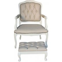 Button & Pleat Upholstered Pedicure Set