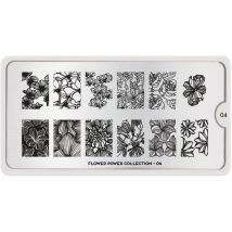 MoYou London Professional Stamping Plate, Flower Power 04, XL