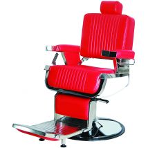 Shelby Barber Chair, Red