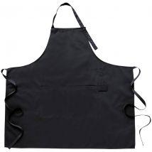Simon Jersey Popper Strap Black Apron with Pocket