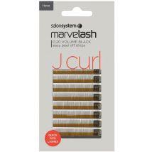 Salon System Marvelash Quick Pick J Curl Lashes, 11mm