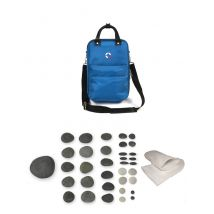 Vulsini Mini Heating Bag with 35 Piece Facial Stone Kit