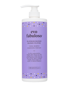 Evo Fabuloso Toning Shampoo, Platinum blonde 1 Litre