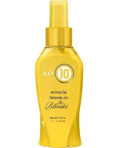 It's a 10 Miracle Leave In For Blondes 120ml
