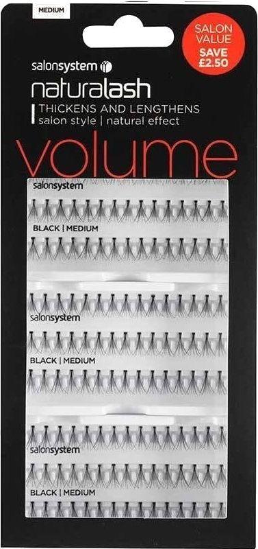 448f3c956bf Salon System Individual Flare Lashes Salon Value Pack, Black Medium