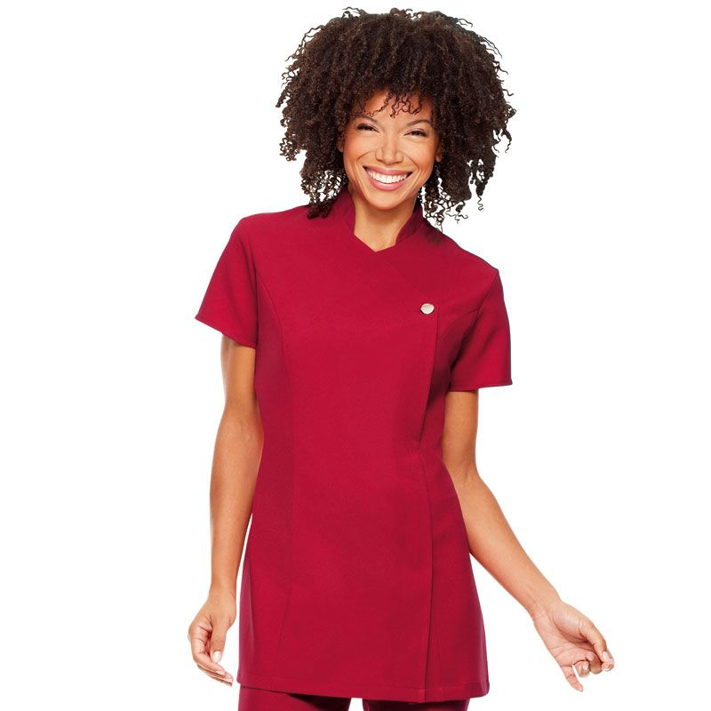 72905b1fcd2 Simon Jersey One Button Tunic, Red Size 18