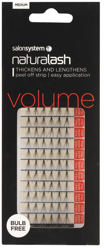 67368b6de22 Salon System Individual Flare Lashes with Peel off Strips, Black Medium