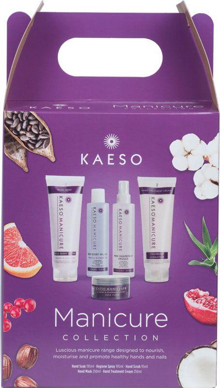 KAESO BEAUTY MANICURE KIT SET hand spray soak lotion scrub mask cream
