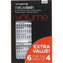 Salon System Lash Flare 6 for the Price of 4, Medium Black