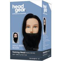 Head Gear Male Practice Head with Beard