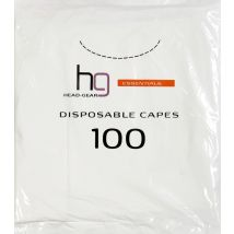 Head Gear Disposable Capes, Clear (100)