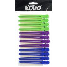 Kodo Aluminium Clips, Coloured (12)