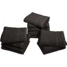 Head Gear Chlorine Resistant Towels, Black (12)