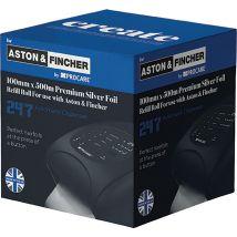 Aston & Fincher Premium Silver Foil Refill Roll 100mm x 500m