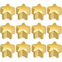 Caflon Gold Plated Star Shape Earrings, Regular (12)