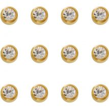 Caflon Gold Plated April Birthstone Earrings, Mini (12)