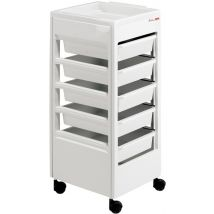 REM Studio Trolley with Flat Top Tray, White