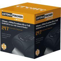 Aston & Fincher Premium Silver Foil Refill Roll 120mm x 500m