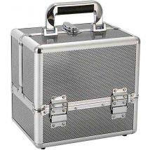 Hair & Beauty Case Silver Metallic, Small