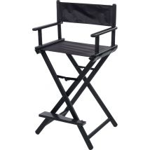Sibel Folding Make-up Chair, Black