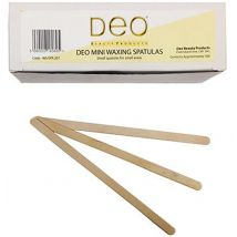 Deo Wooden Waxing Spatulas, Mini (100)