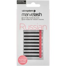 Salon System Marvelash Russian 3D Fan Lashes, Assorted