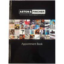 A+F Black Appointment Book, 6 Column