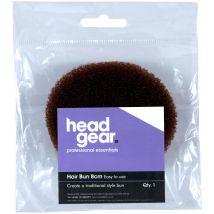 Head Gear Bun Ring, Brown 14cm
