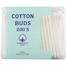 A+F Cotton Buds, Plastic Stem (200)