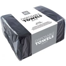 A+F Pro Disposable Towels, Black (50)
