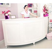 Curved Reception Desk Standard, Large Quarter Circle