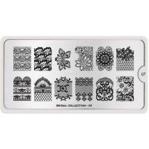 MoYou London Professional Stamping Plate, Bridal 07, XL